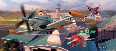 Disney Planes Panoramic mural wallpaper 202x90cm